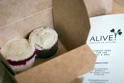 of Cheesecake and Torte desserts from San Francisco raw restaurant Alive