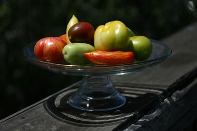 photograph picture of some delicious heirloom tomatoes from Balakian farms