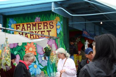 photograph picture of the Alemany farmers market in San Francisco