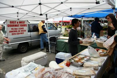 photograph picture of the Alemany farmers market East West GOurmet Foods
