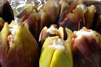 photograph picture of some figs from Knoll Farms stuffed with goat cheese 