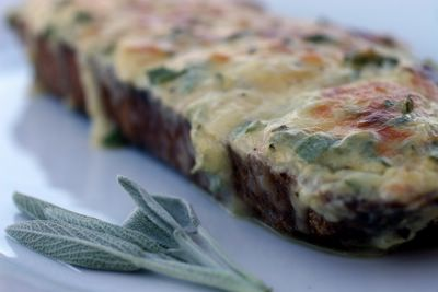 photograph picture of some welsh rarebit or rabbit depending on what you call it
