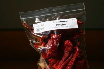 photograph picture of Tierra ancho dried chiles