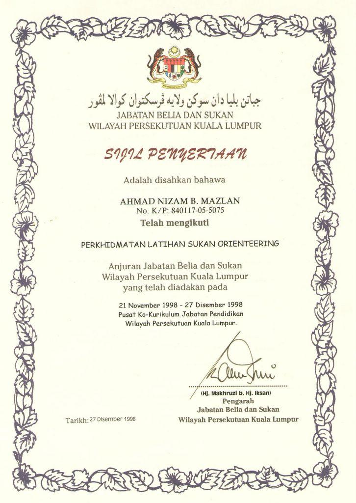 Contoh Sijil Penghargaan Tamat Perkhidmatan