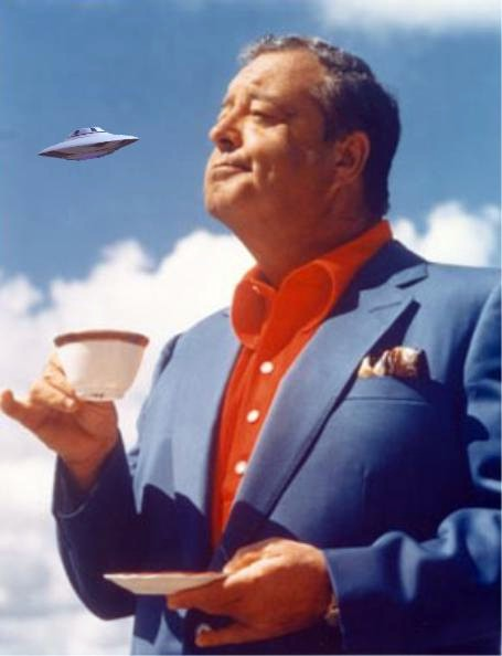 Flying Saucers UFOs] ... are Interplanetary Devices Jackie Gleason and The Letter