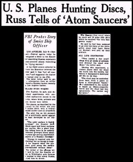 Atom Saucer Milwaukee Sentinel 7-7-1947