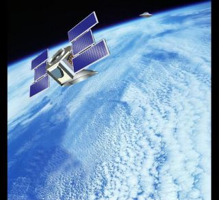 Cloudsat in Orbit With UFO