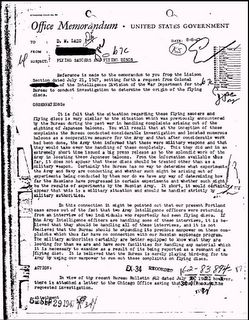 FBI File FUGOS and Flying Saucers