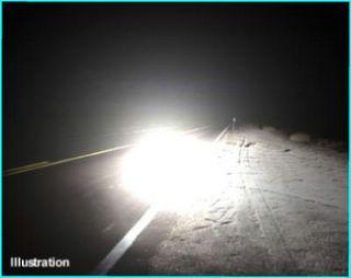 Road Lights Up