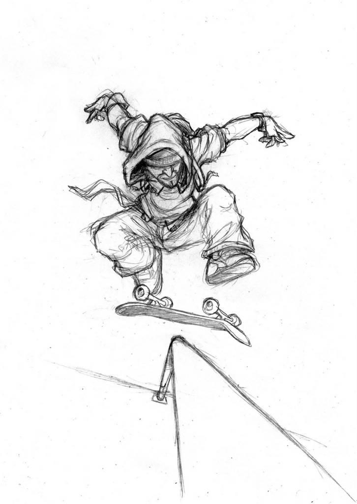 Coco 39 s blog battle de dessin coco vs bastien - Dessin skateboard ...