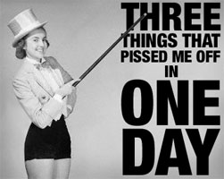 Three Things in One Day