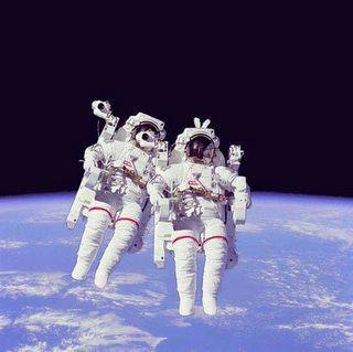 astronauts having some fun=