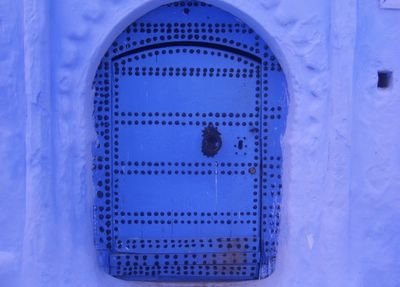 Blue door in Chaouen, Morocco