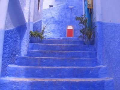 Street in the medina, Chaouen, Morocco
