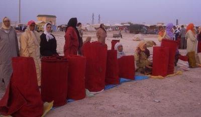 Carpet souk in Boujad, Morocco