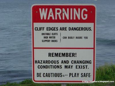 Sign: Stay Off Cliff
