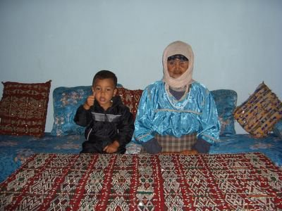 berber grandma and grandson