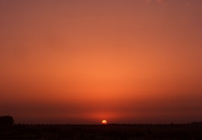 Sunset as seen from the kitchen, Khemisset, Morocco