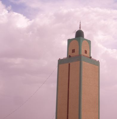 Mosque in my town, Morocco