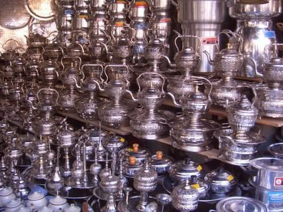 Food souk in Meknes, Morocco