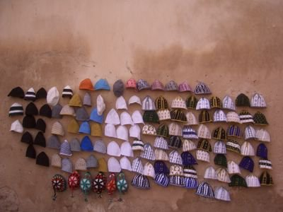 Terboush seller next to Bab Mansour in Meknes, Morocco