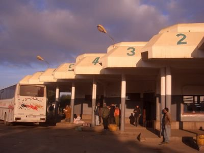Bus station in Khemisset, Morocco