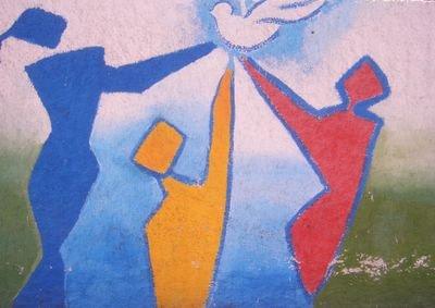 Mural in Rabat, Morocco