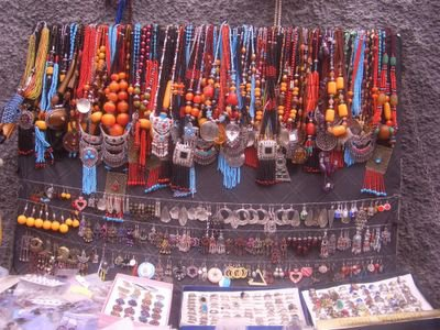 Accessories at the medina in Rabat, Morocco