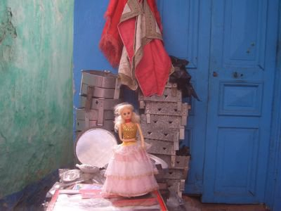 Doll for sale at the medina in Rabat, Morocco