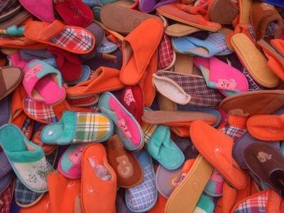 Slippers at the medina in Rabat, Morocco