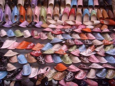 Shoes at the medina in Rabat, Morocco