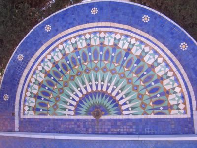 Fountain in Rabat, Morocco