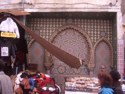 Vendors at the medina in Rabat, Morocco