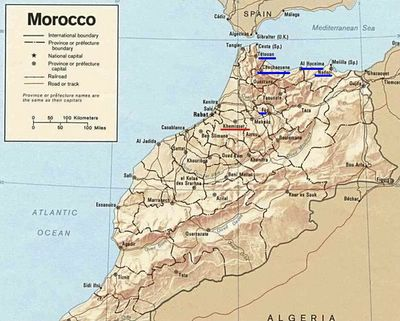 Morocco Map: Vacation to the Rif Mountains
