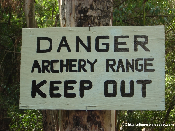 Sign: Keep Out Archery Range