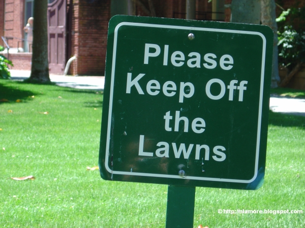 Please Keep Off the Lawns