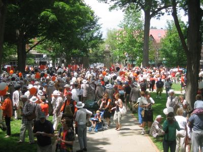 P-Rade muster in front of Nassau Hall