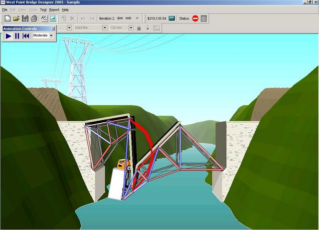 West point bridge builder for Bridge design