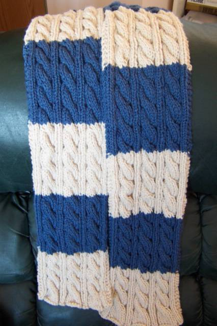 Knitting Jobs Ireland : Irish hiking scarf knitalong two coloured