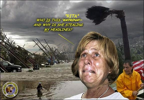 Media whore Cindy Sheehan whines about Rita
