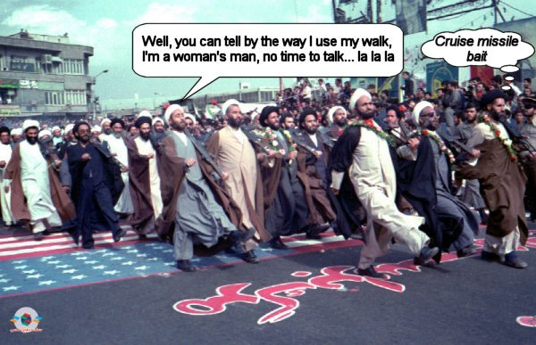 Mad marching mullahs on parade