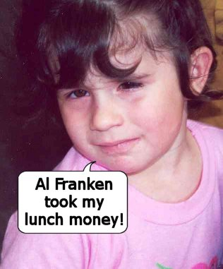 Al Franken took my lunch money!