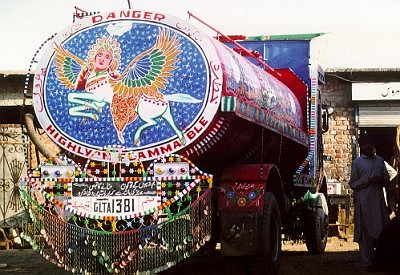 Pakistani painted truck
