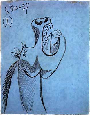 Estudio para la cabeza de caballo (Picasso)