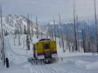 East Ridge Super Road near the Nose at Chatter Creek Cat Skiing