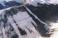East Ridge Trojan Phat and Skinny Ski Runs at Chatter Creek