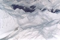 An Aerial View of Cat Skiing Terrain