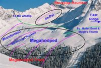 Jo-Pal and Megahooped Ski Runs