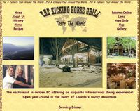 The Kicking Horse Grill.  Fine dining in Golden BC