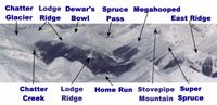 Lodge and East Ridge Panorama at Chatter Creek Cat Skiing
